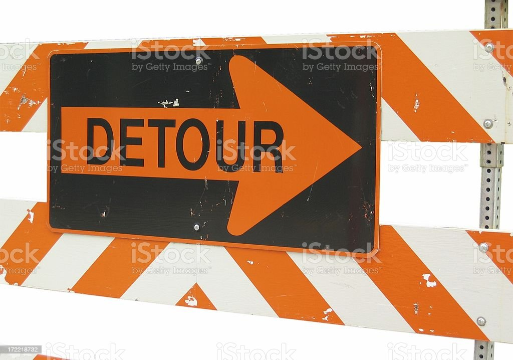 Take the Detour! royalty-free stock photo