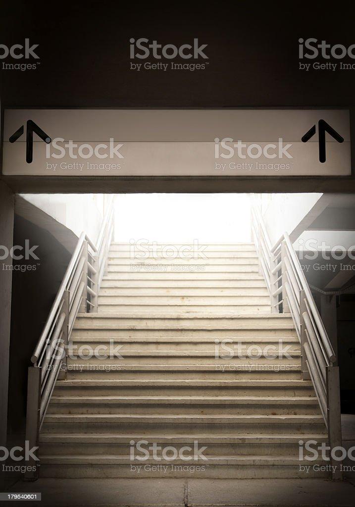 Take the exit royalty-free stock photo