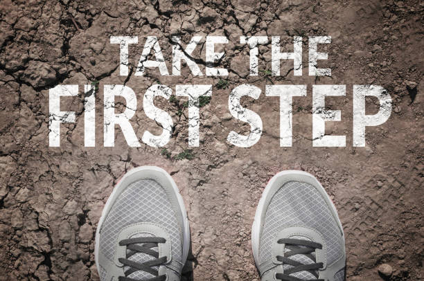 Take the first step stock photo
