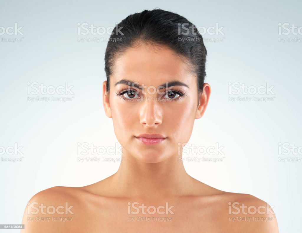 I take the health of my skin very seriously stock photo