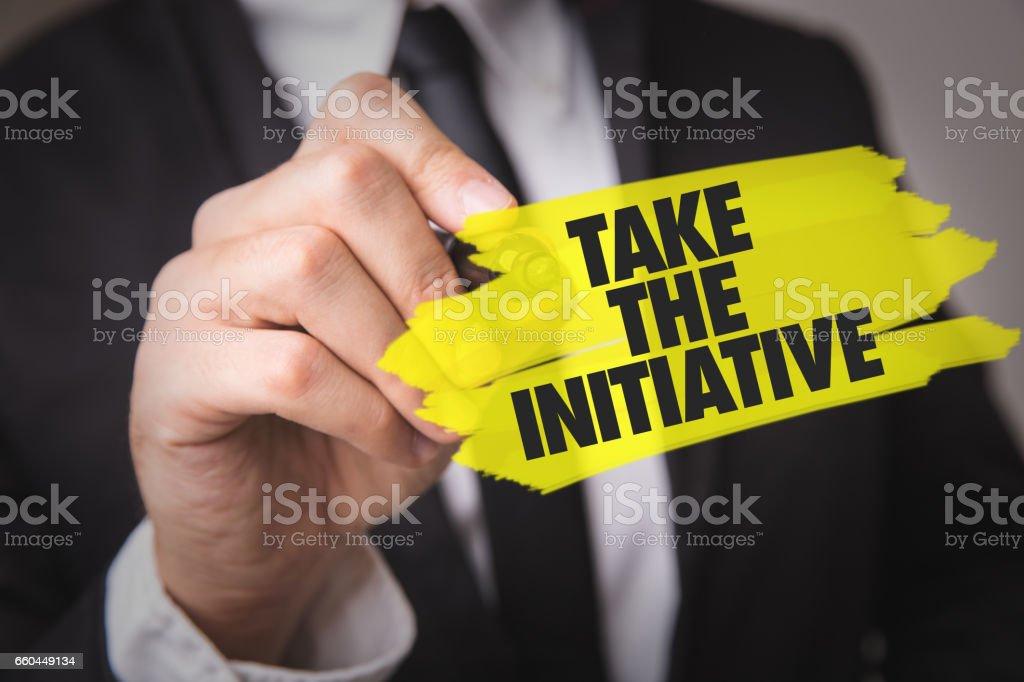 Take the Initiative stock photo