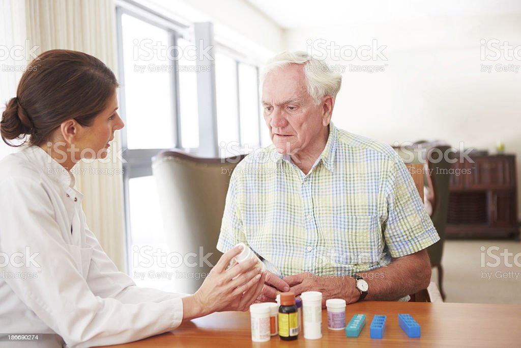 Take two tablets a day royalty-free stock photo