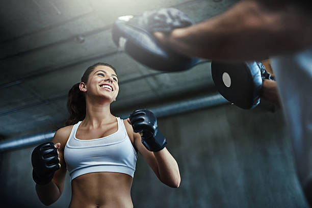 Take up boxing and give your health a fighting chance stock photo