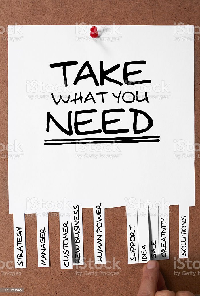 Take What You Need royalty-free stock photo