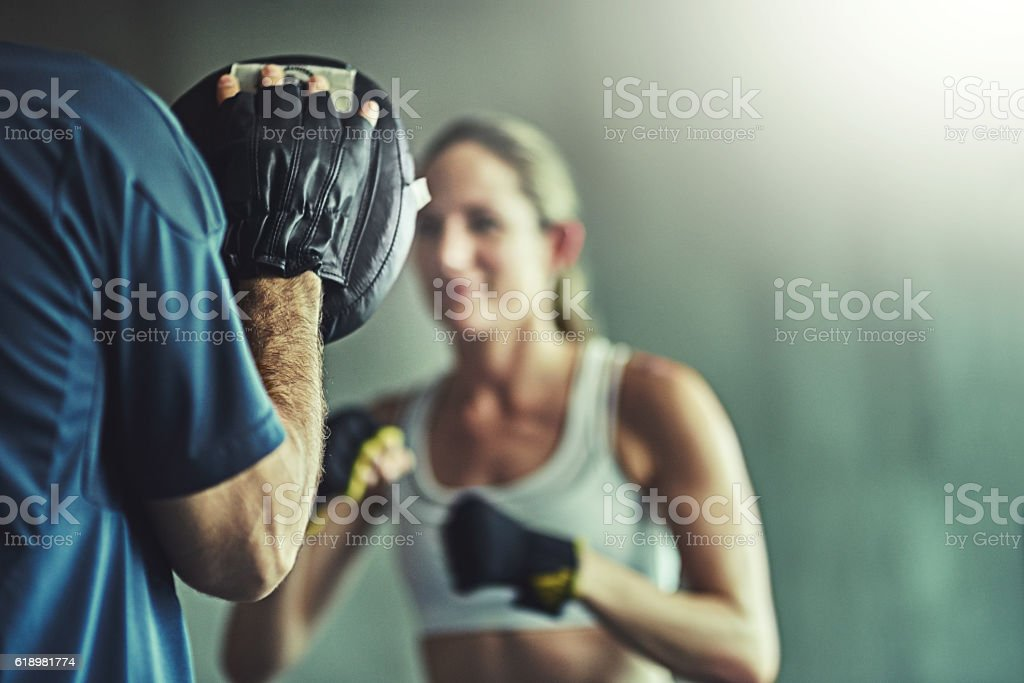 Take your best shot at fitness stock photo