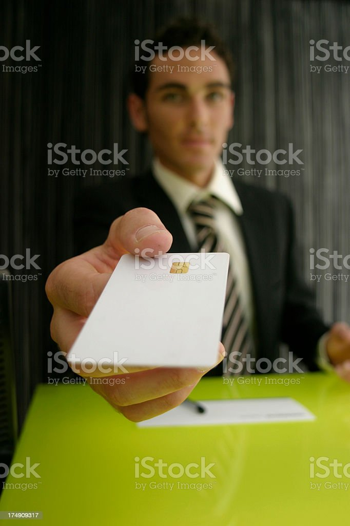 Take your card back stock photo