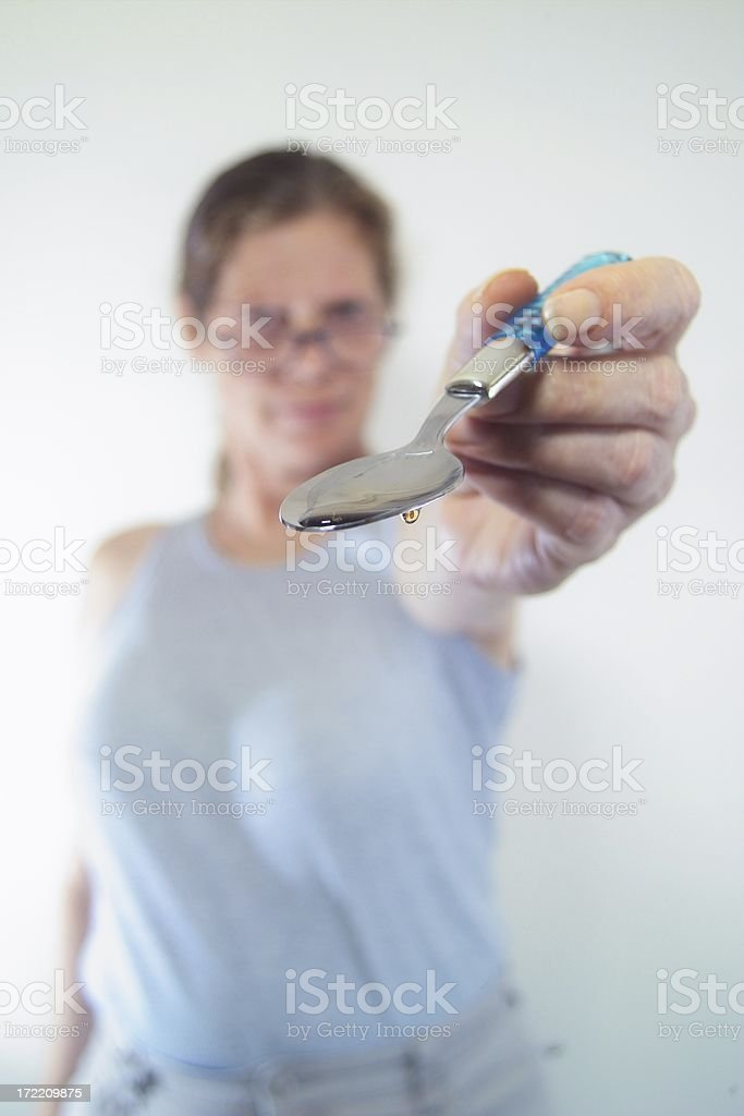 Take your medicine royalty-free stock photo