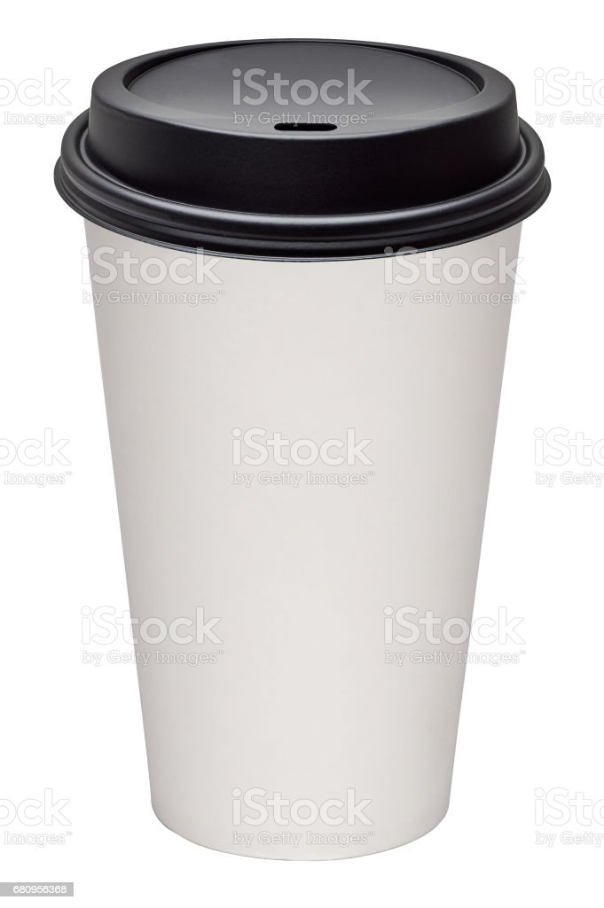 Takeaway coffee cup on white background royalty-free stock photo