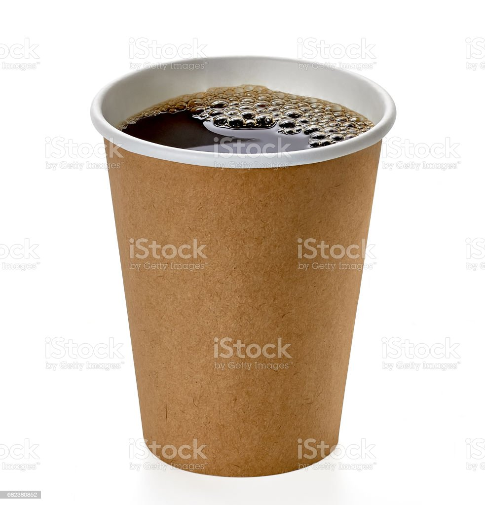 Takeaway coffee cup with clipping path foto stock royalty-free