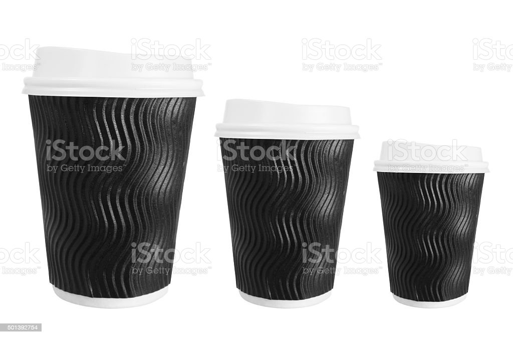 Takeaway Coffee Cups stock photo