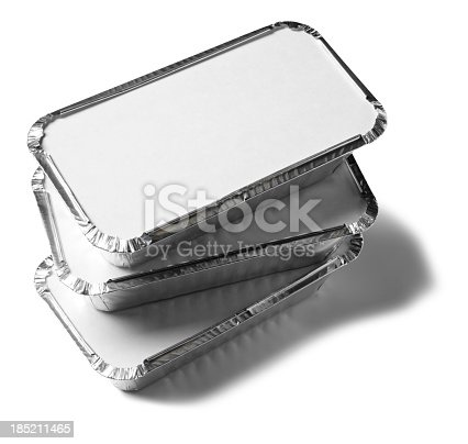 Takeaway packaged food. Isolated on whiteClick on the link below to see more of my food images.