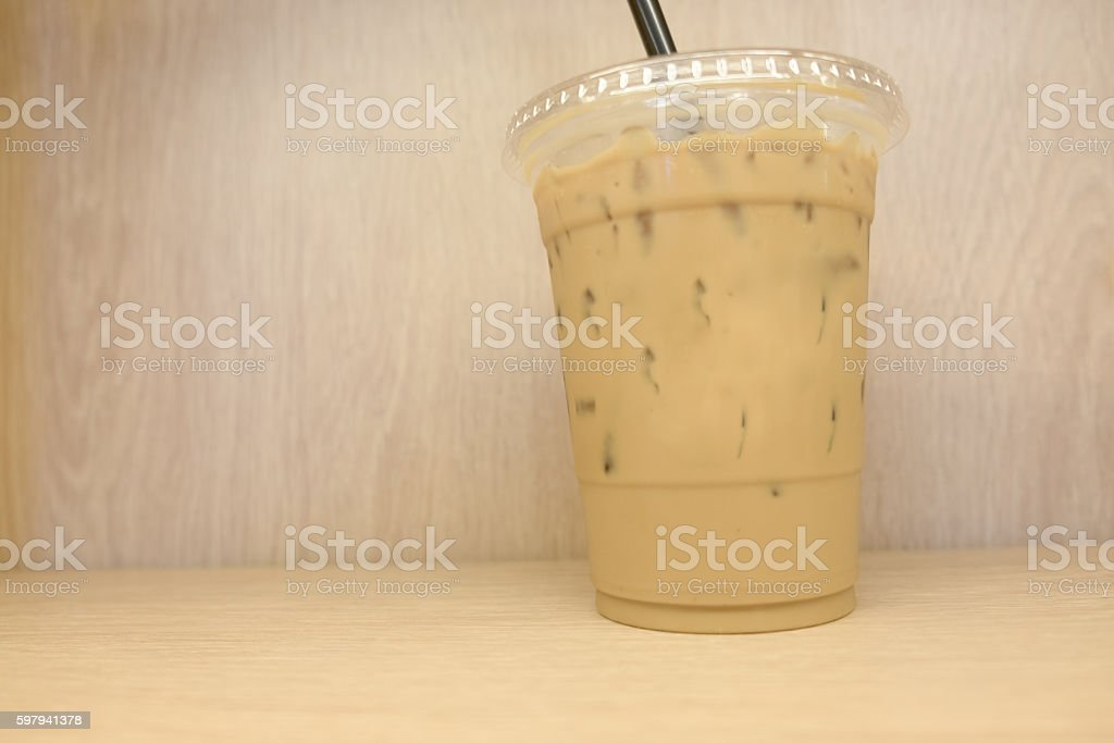Take-home cup of ice coffee foto royalty-free