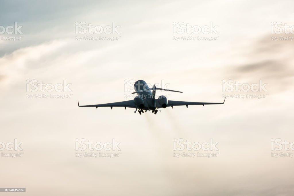 Take-off business jet стоковое фото