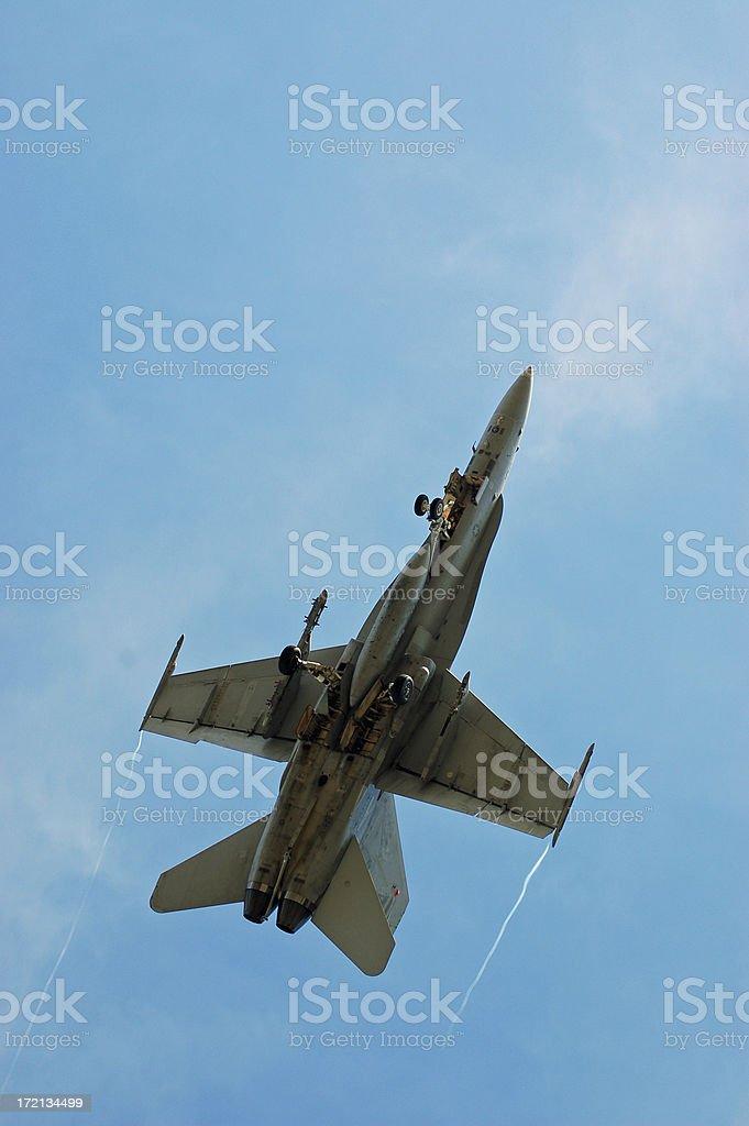 U.S. NAVY F-18 Take-off... royalty-free stock photo