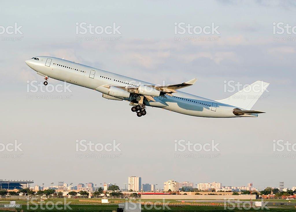Takeoff royalty-free stock photo