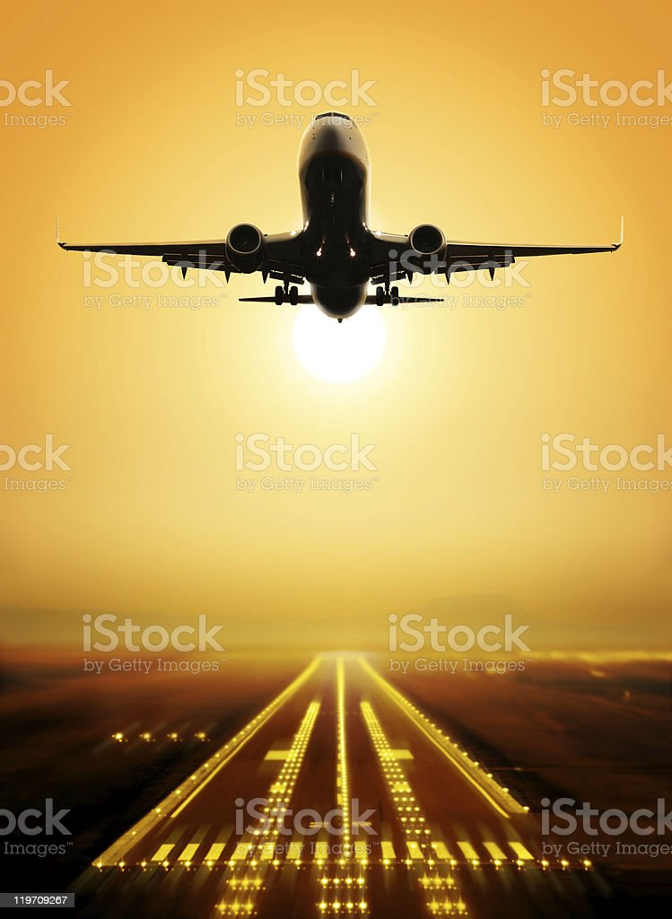 take-off runway royalty-free stock photo