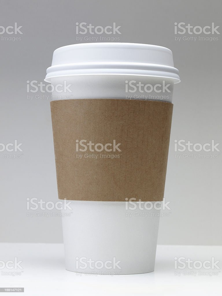 Take-out coffee cup stock photo