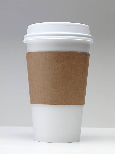 take-out coffee cup - paper coffee cup stock photos and pictures