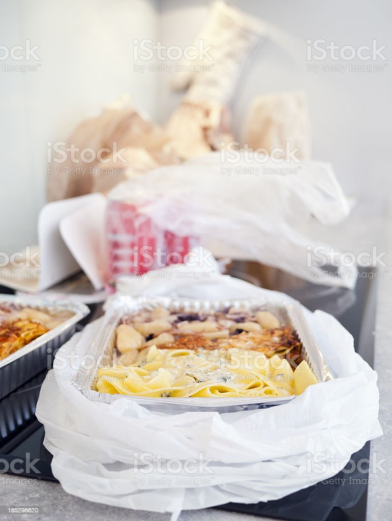 Take-out meal royalty-free stock photo