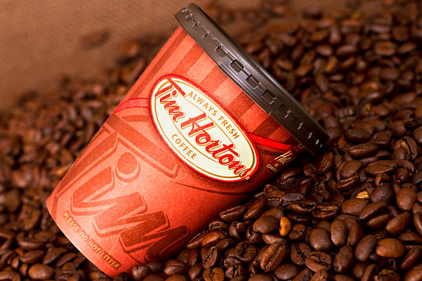 Take-out Tim Hortons  Coffee Cup stock photo
