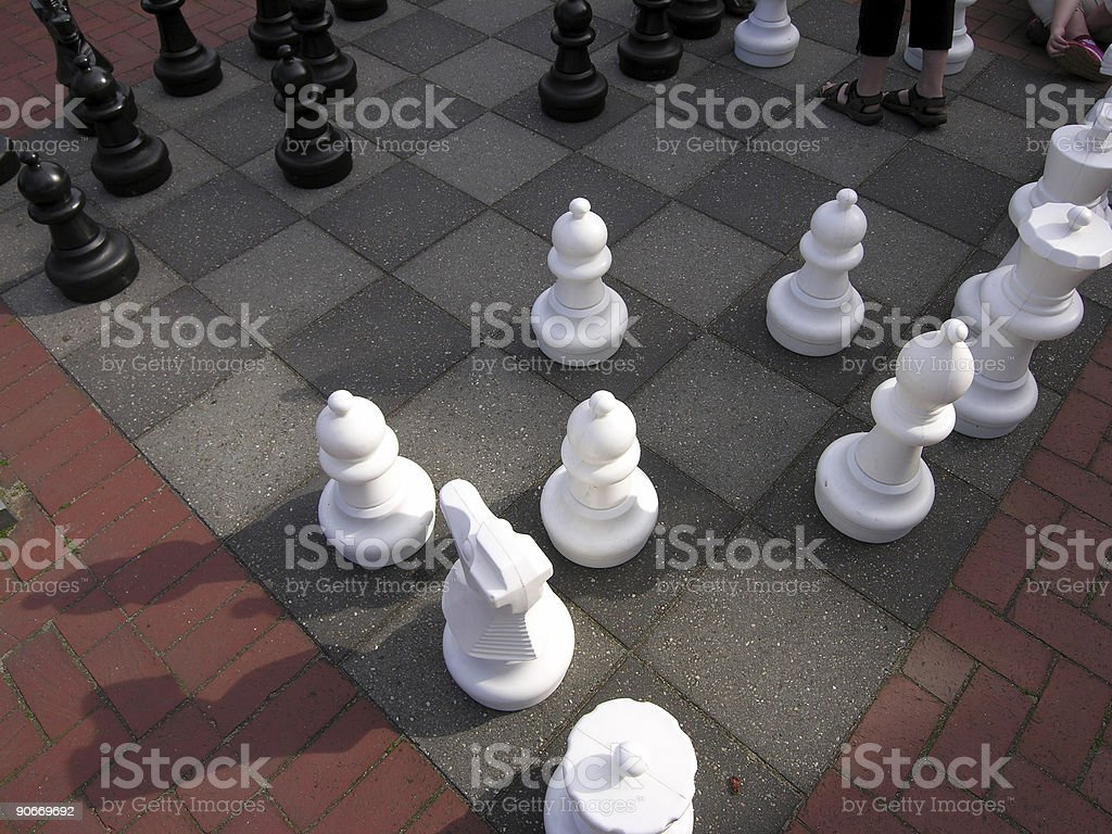 Takeover in chess royalty-free stock photo