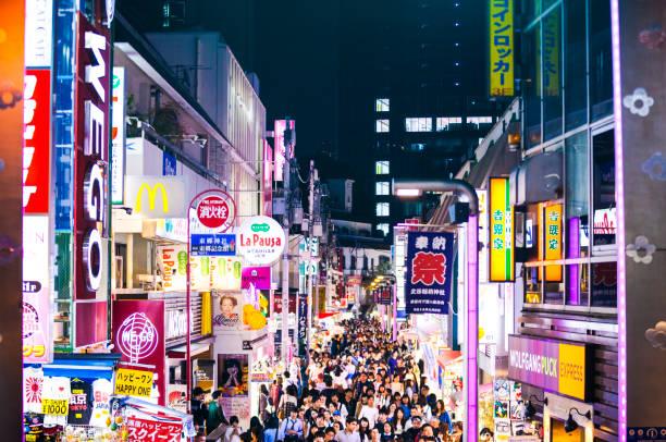 Takeshita-Straße im Stadtteil Harajuku der Innenstadt von Tokio, Japan – Foto