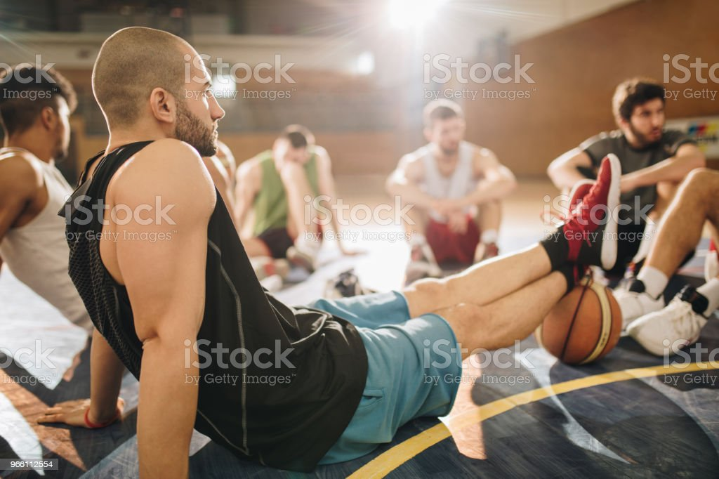 Taking a break from basketball! - Royalty-free Adult Stock Photo