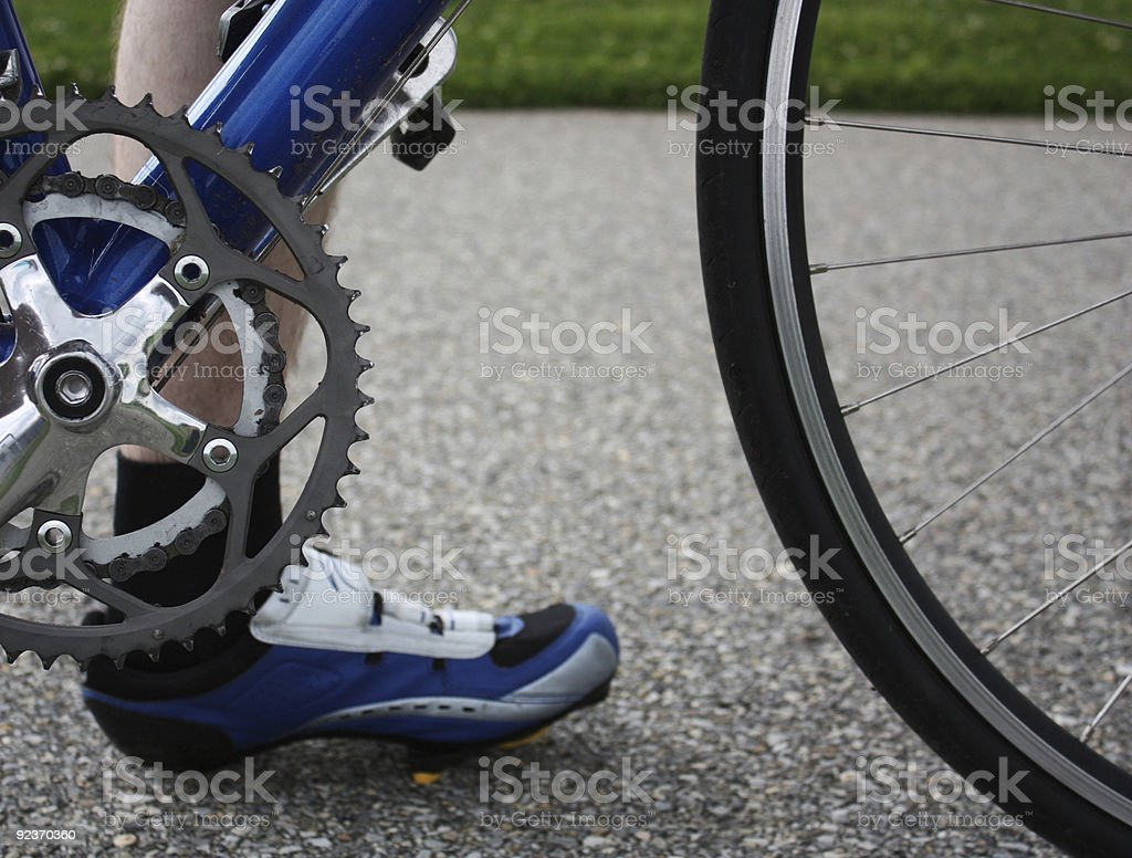 Taking a break from cycling royalty-free stock photo