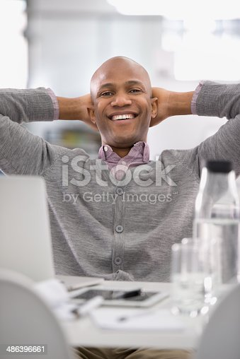istock Taking a breather before he hits the next project 486396661