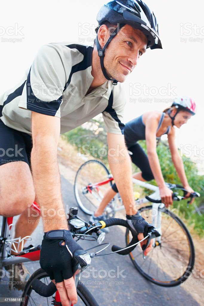 Taking a casual ride... royalty-free stock photo