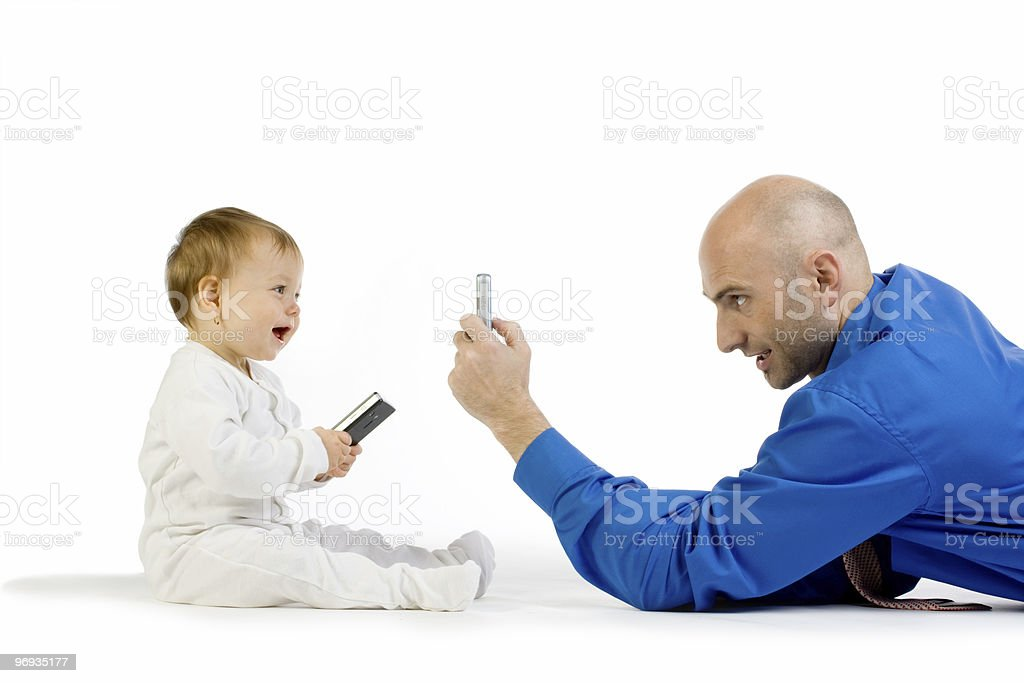 Taking a cell phone photo royalty-free stock photo