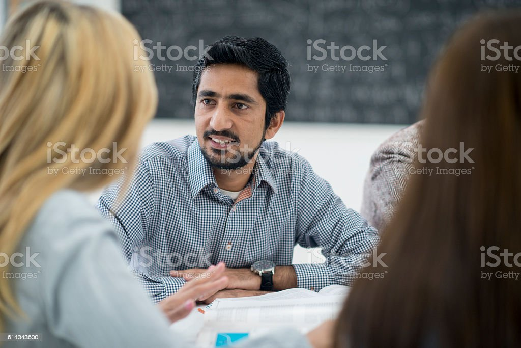 Taking a Class at a University stock photo