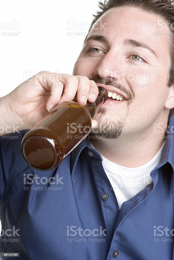 Taking a drink royalty-free stock photo