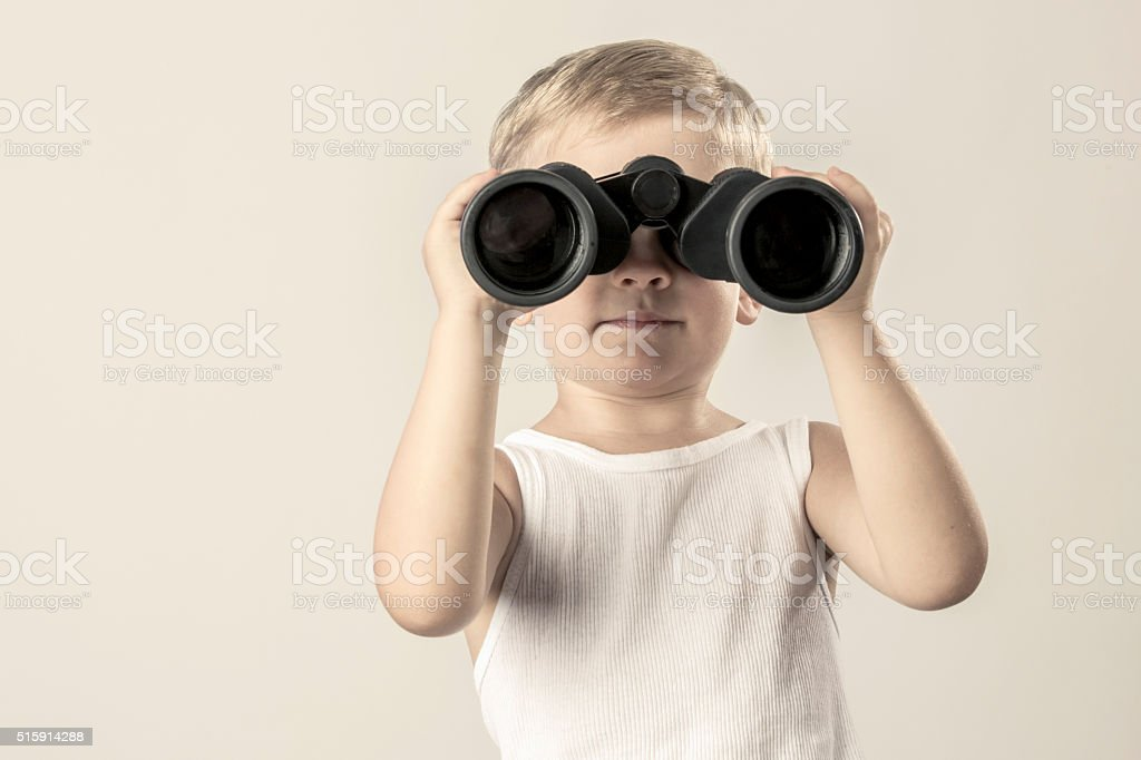 Taking a look stock photo