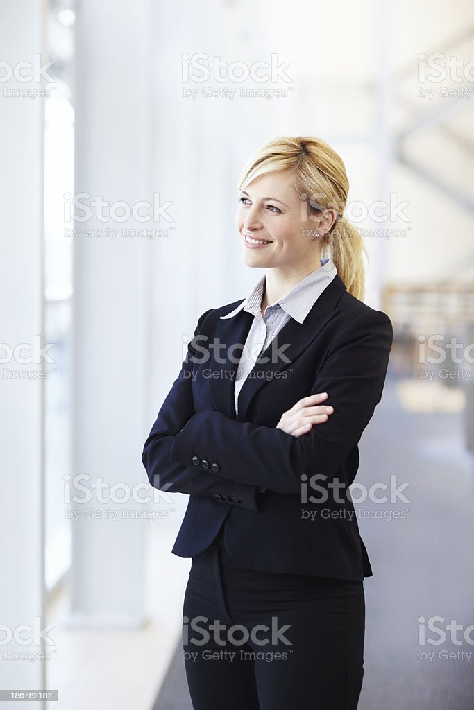 Taking a moment between projects stock photo