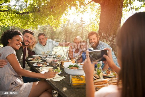 istock Taking a photo of a big family. 640010516