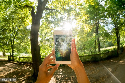 599114758 istock photo taking a picture at the park 612418114