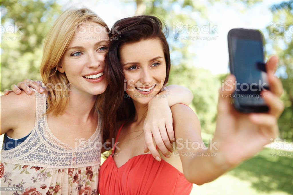 Taking a picture of our friendship royalty-free stock photo