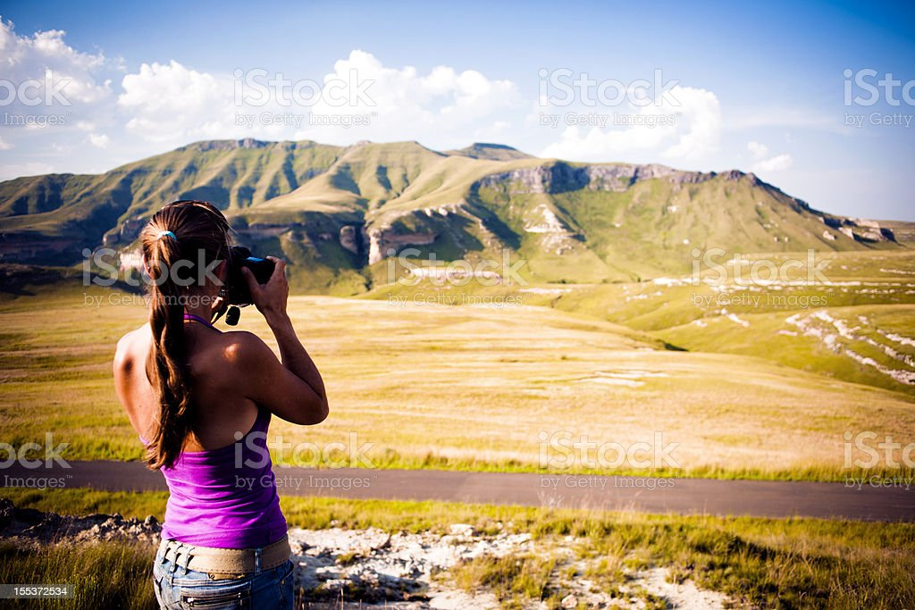 Taking a picture of the view royalty-free stock photo