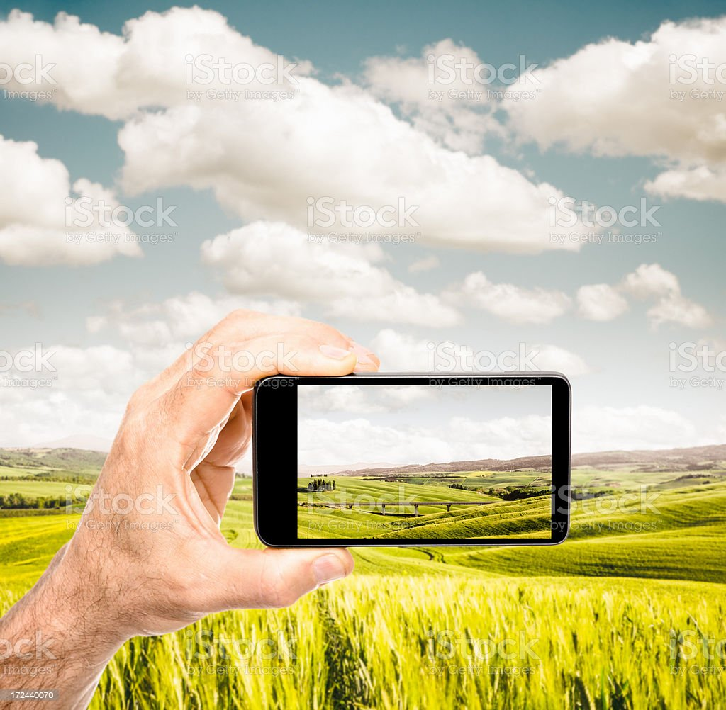 taking a picture outdoors royalty-free stock photo