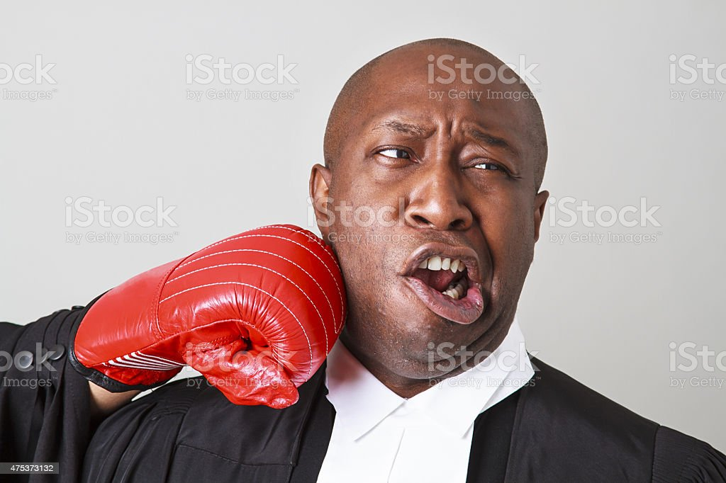 Taking a punch stock photo