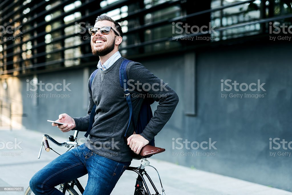 Taking a quick break royalty-free stock photo