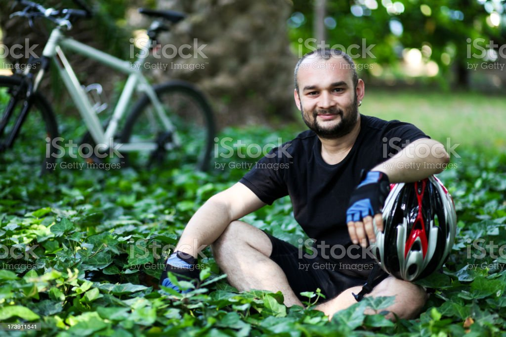 Taking a rest in nature royalty-free stock photo