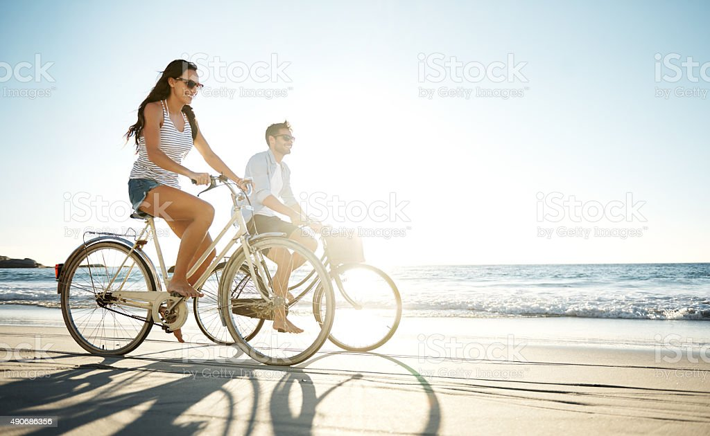 Taking a ride in the sun stock photo