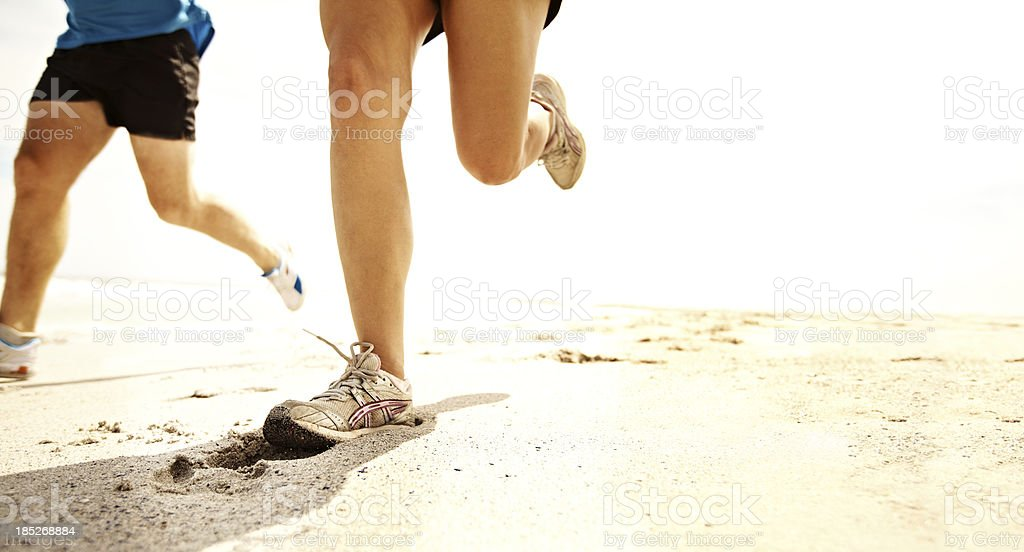 Taking a run together royalty-free stock photo