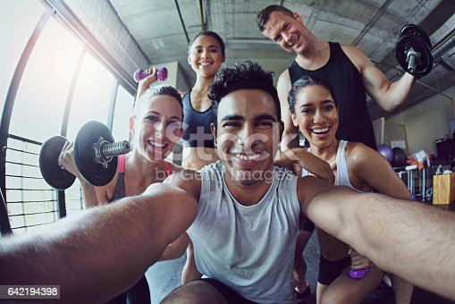 istock Taking a selfie so everyone can witness the fitness 642194398