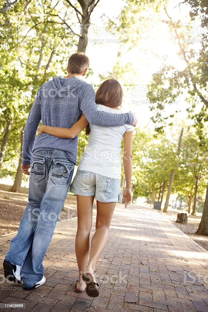 Taking a stroll in the park royalty-free stock photo
