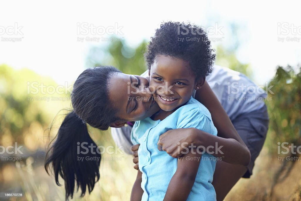 Taking a time out for some motherly love! stock photo