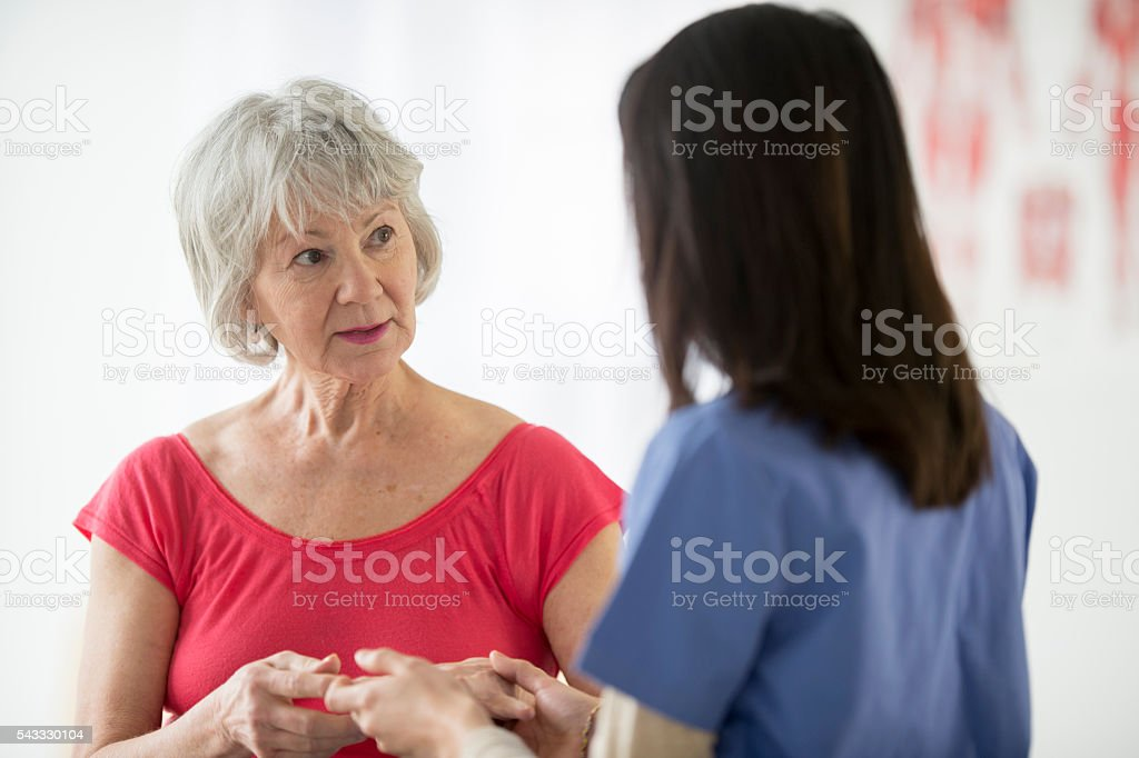 Taking a Woman's Vitals stock photo
