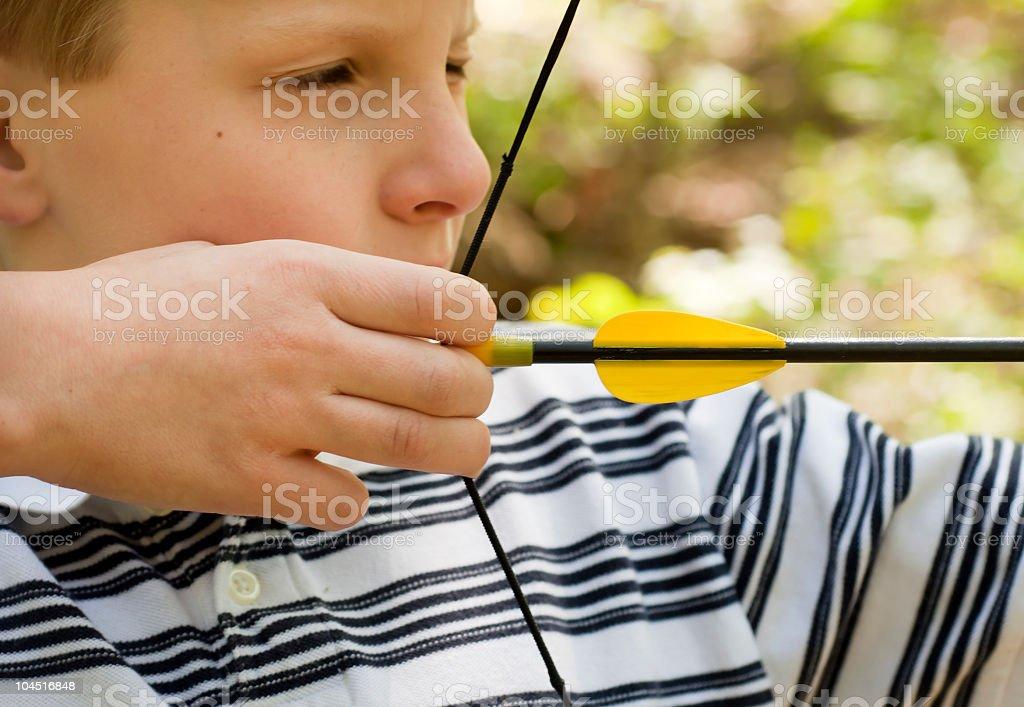 Taking Aim at Archery royalty-free stock photo